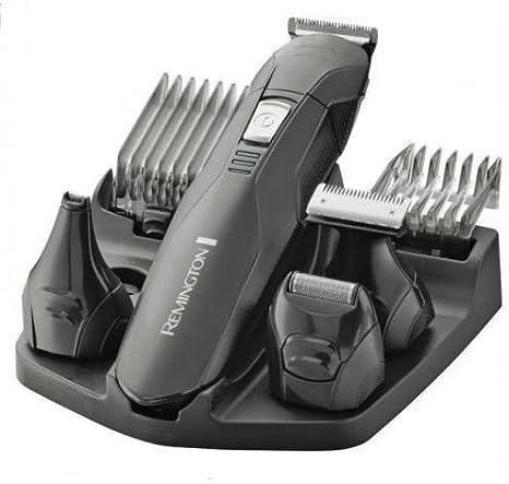 Remington Edge PG6030 – Recortador de Barba y Cortapelos, 6 Accesorios y Barbero, Inalámbrico, Lavable, Apto para Vello de Nariz, Orejas y Cejas, Negro