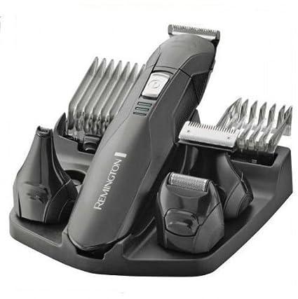 Remington PG6030 Edge - Kit multifunción inalámbrico, seis cabezales, cuchillas de acero, sólo recargable, negro