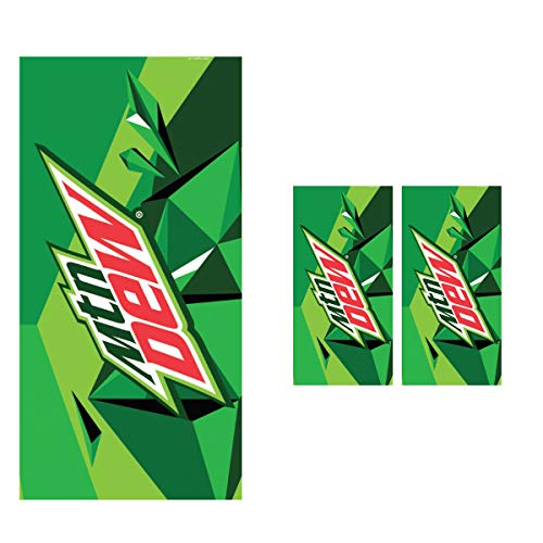 Terry Cloth Beach Towel - Rockin Gear 2 Pack Towel Officially Licensed Mountain Dew Soda 100% Set of 2 Cotton Velour Terry Cloth Beach Towel 30