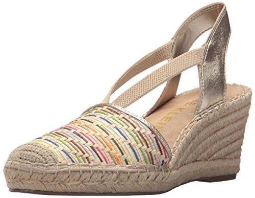 Anne Klein Womens Abbey Natural Espadrille Wedge Sandal