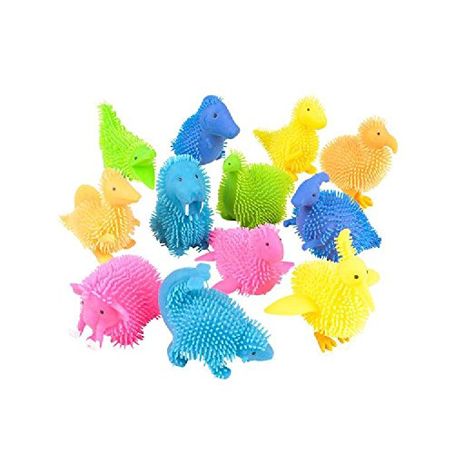 3.5'' Prehistoric Puffer Animals (With Sticky Notes) by Bargain World