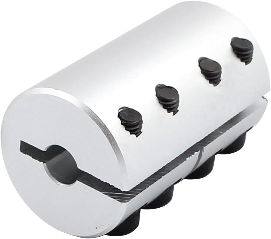 uxcell/® 12mm to 14mm Shaft Coupling 45mm Length 32mm Diameter Helical Beam Coupler Aluminum Alloy Joint Motor for 3D Printer CNC Machine DIY Encoder