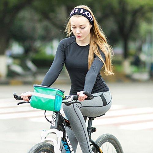 Da Jia Inc Wasserabweisende Universal Radfahren Bike Fahrrad Frontlenker Bar Sack Korb Taschen Fahrradtasche und Handyhalterung mit durchsichtigem PVC-Fenster für Tablet oder Handy Schwarz eNLPy