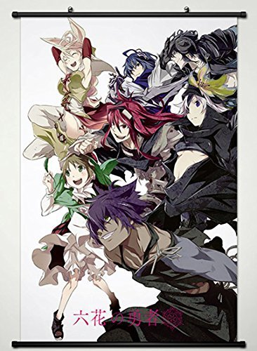 Wall Scroll Poster Fabric Painting For Anime Rokka Braves of the Six Flowers Key