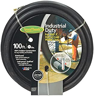 """product image for Green Thumb 8650-100 5/8"""" x 100' Black Rubber Garden Hose"""