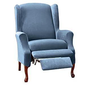 Amazon Com Sure Fit Stretch Pique Wing Chair Slipcover