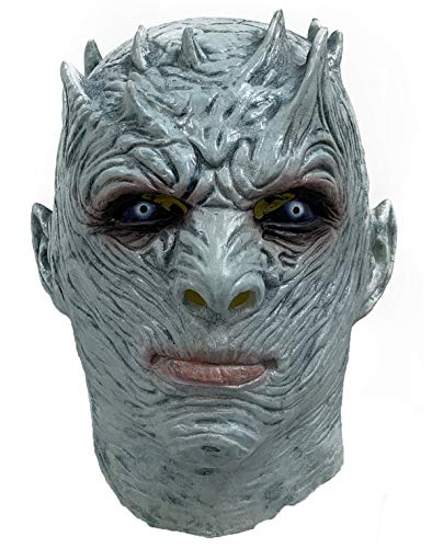 ZMJ The Night's King Mask Game of Thrones Halloween Horror Costume Latex Blue -