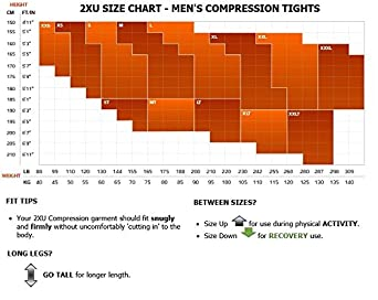 2XU Mens Reflect Compression Tights