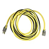 US Wire and Cable 74025 12/3 25ft Heavy Duty Lighted Extension Cord, Yellow