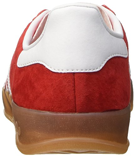 adidas Gazelle Indoor, Zapatillas Bajas para Hombre, Rojo Multicolore (Red/Cwhite/Metold)
