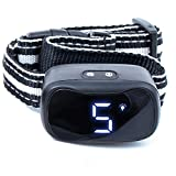 Barklo Anti Bark Collar for Medium and Large Dogs - Sound, Vibration, Shock Modes for Different Dog Personalities - LED-Illuminated No Barking Control Collars for Nighttime - Rechargeable & Rainproof