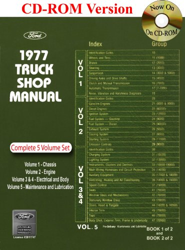 Manual Bronco Shop (1977 Ford Truck Shop Manual)