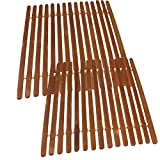 Square Bamboo Trivet Hot Mat for Countertops and Tables by bogo Brands (2 pack)