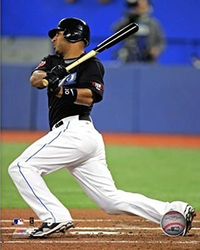 Vernon Wells Toronto Blue Jays Action Photo (Size: 8