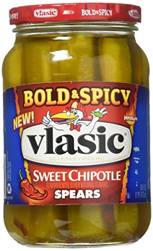 Spicy Chipotle (Vlasic Bold & Spicy Sweet Chipotle Spears, Medium 16 Oz (Pack of 2))