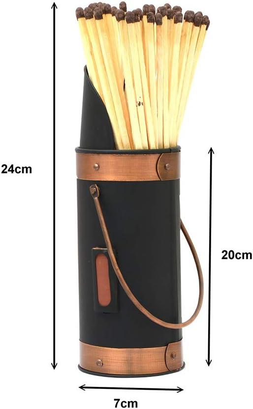 Seau /à charbon pour chemin/ée en m/étal Design Allumette-Support Seau Extra-Long 40 b/âtonnets-NOUVEAU!
