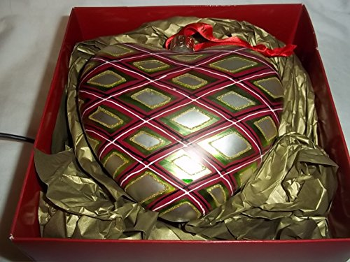 (Waterford Holiday Heirloom Plaid Heart)