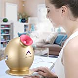 Upscale Premium Nano Ionic Hot Mist Facial Steamer for deep moisturizing and cleansing of pores, promoting collagen regeneration, provides relief during sinus symptoms with auto shut off feature, suitable for all skin types