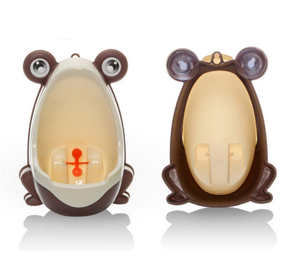 Urinario Dise/ño de Rana Animal para Ni/ños//Bebes Color Naranja Orinal Infantil