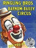 CIRCUS RINGLING BROS BARNUM BAILEY SHOW CLOWN 30X40 CM ART PRINT POSTER BB7704