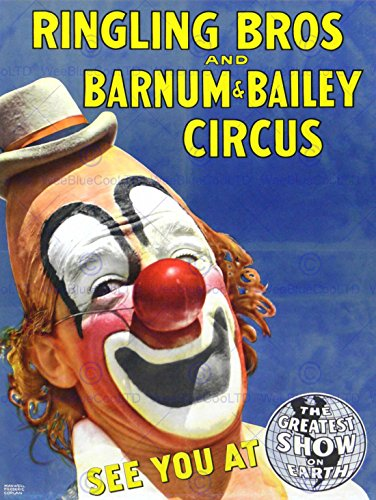Ringling Circus (CIRCUS RINGLING BROS BARNUM BAILEY SHOW CLOWN 30X40 CM ART PRINT POSTER BB7704)