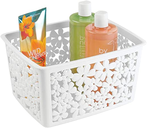 mDesign Caja organizadora baño para Sus cosmeticos - Organizador ...