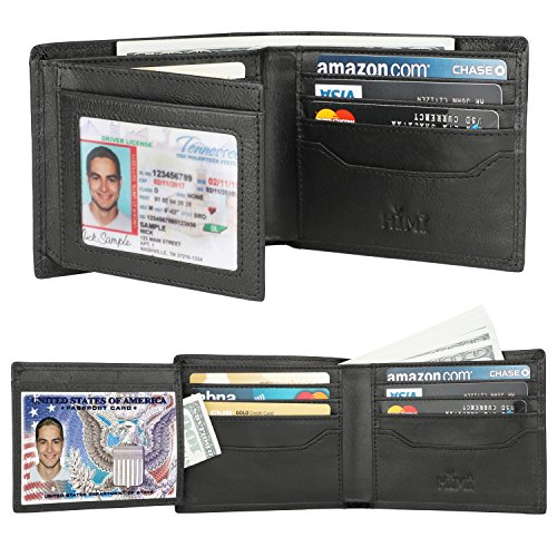 Tan Tri Fold Wallet (Wallets for Men - RFID Blocking Trifold Genuine Leather Wallet With 2 ID Window (Tan Black))