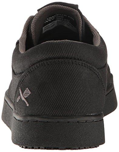 Mozo Mens Macinare Slittamento Tela Resistente Sneaker Nero