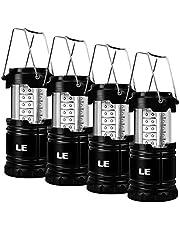 LE Lighting EVER Lanterne LED Portable, Lampe de Camping Etanche à Piles pour Camping Bricolage Cave Tente Eclairage de Secours
