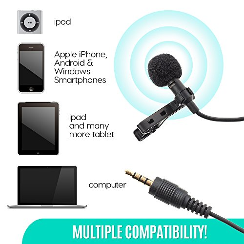 Ultimate Lavalier Microphone For Bloggers And Vloggers Lapel Mic Clip-on Omnidirectional Condenser for Iphone Ipad Samsung Android Windows Smartphones - Image 4