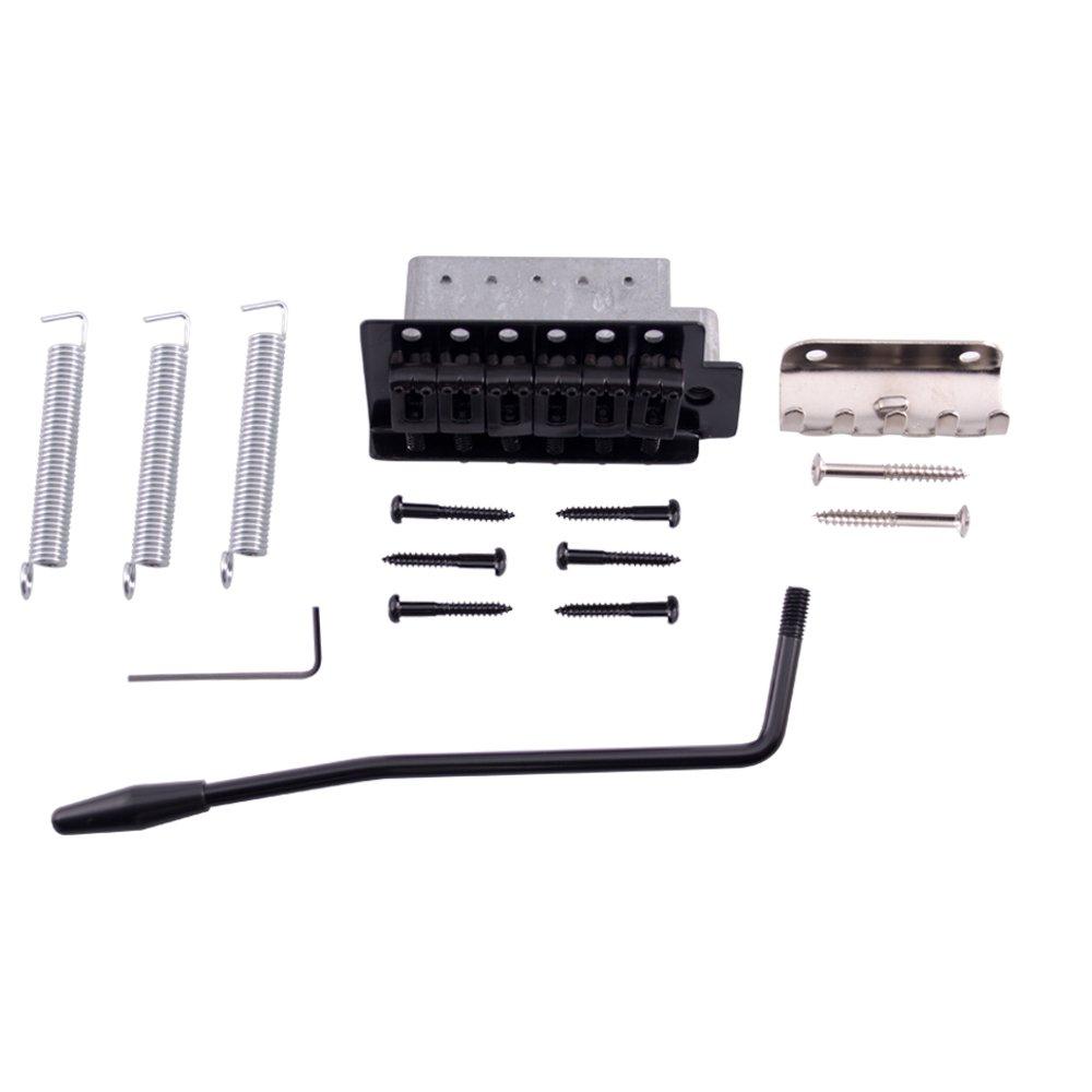 Seismic Audio SAGA24 Black Replacement Strat-Style Tremolo Bridge Set for Electric Guitars Seismic Audio Speakers Inc.