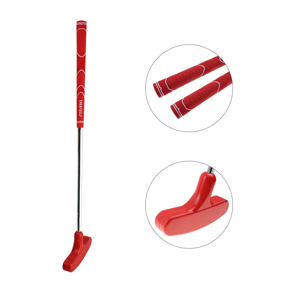 CRESTGOLF 29 inches Double-Way Rubber Golf Putter ,Regular,Right&Left Handed (red) by Crestgolf
