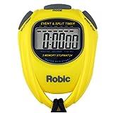Robic SC-539 - Cronómetro de Memoria para Eventos y divisiones de Tiempo (Resistente al Agua), Color Amarillo