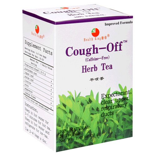 Health King  Cough-Off Herb Tea, Teabags, 20-Count Box (Pack of (Cough Off Tea)