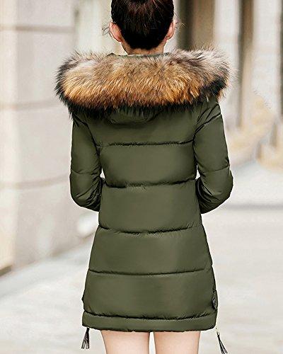 Bolsillo Abrigo Chaqueta Mujer Con Plumas Abajo Invierno Abrigos De De Verde Largo Elegantes pqPBXXO