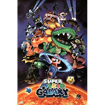 Amazon.com: Nintendo Super Mario Galaxy Video Game Poster