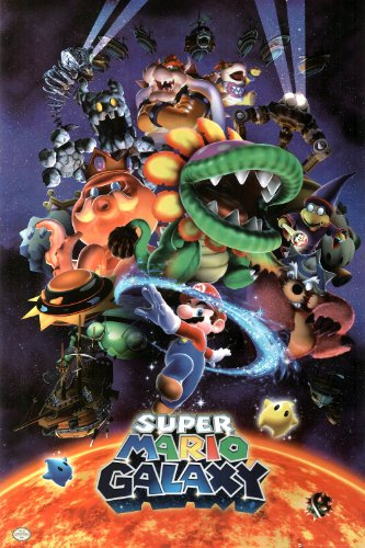 Nintendo Super Mario Galaxy Video Game Poster Print - 24x36
