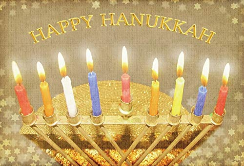- Baocicco 7x5ft Happy Hanukkah Backdrop Photography Background Gold David Stars Candle Menorah Chanukah Party Colorful Candles Candle Lights Jewish Holy Days Festival Holiday Photo Studio Props