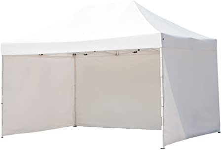 Amazon Com Abba Patio 10 X 15 Ft Pop Up Heavy Duty Instant Canopy Commercial Portable Canopy With Sidewalls Enclosure White Home Kitchen