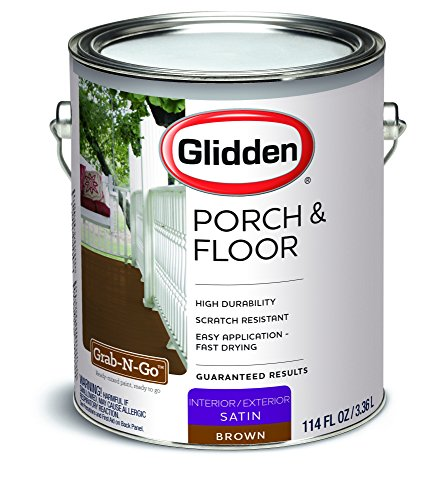 Glidden Porch & Floor Paint Satin Finish Brown 1 Gallon (Floor And Porch Paint)