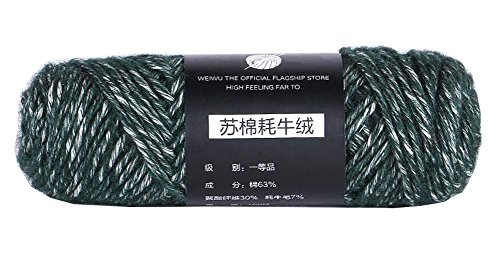 Green Color Scarf Yarn Pack of (Alpaca Boucle Scarf)