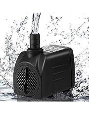 Mini Pompa Acqua Pompa Sommersa,Cadrim Pompa Acquario Laghetto per Terrari, Stagno di Pesce,Pompa Sommersa Plastica