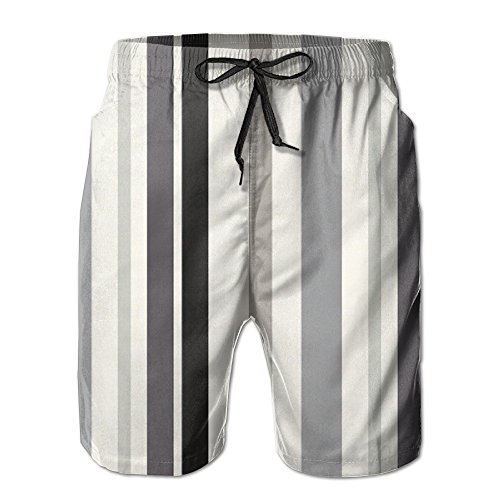 XIYX Stripes Men's Fashion Fit Summer Shorts Swim Trunk Quick Dry Casual Summer Beach Shorts With Pockets by XIYX