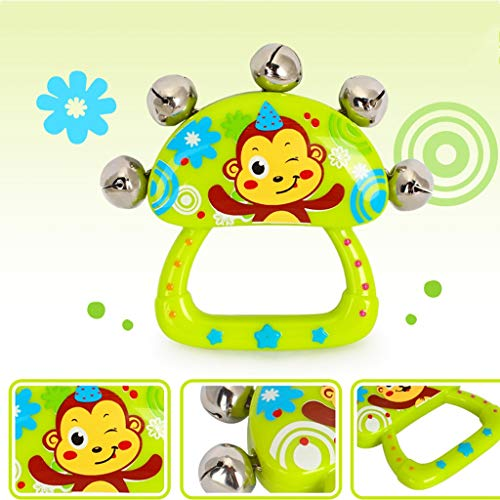 LIPENG-TOY Children's Educational Tambourine Infant Hand Drums Percussion Instrument 3-6-12 Months Set (Color : Multi-Colored) by LIPENG-TOY (Image #5)