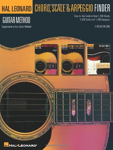 Guitar Chord, Scale & Arpeggio Finder: Easy-to-Use Guide to Over 1,100 Chords, 1,300 Scales & 1,300 Arpeggios Hal Leonard Guitar Method from Hal Leonard