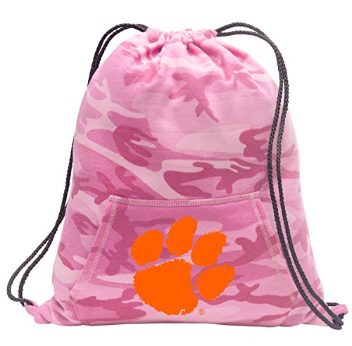Broad Bay Cute Camo Clemson Drawstring Bag Hoody Clemson Tigers Cinch Pack for Girls & (Clemson String Pack)