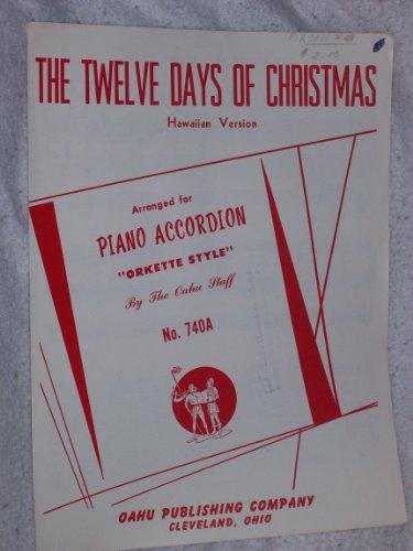 The Twelve Days of Christmas - Hawaiian Version for Accordion Duet