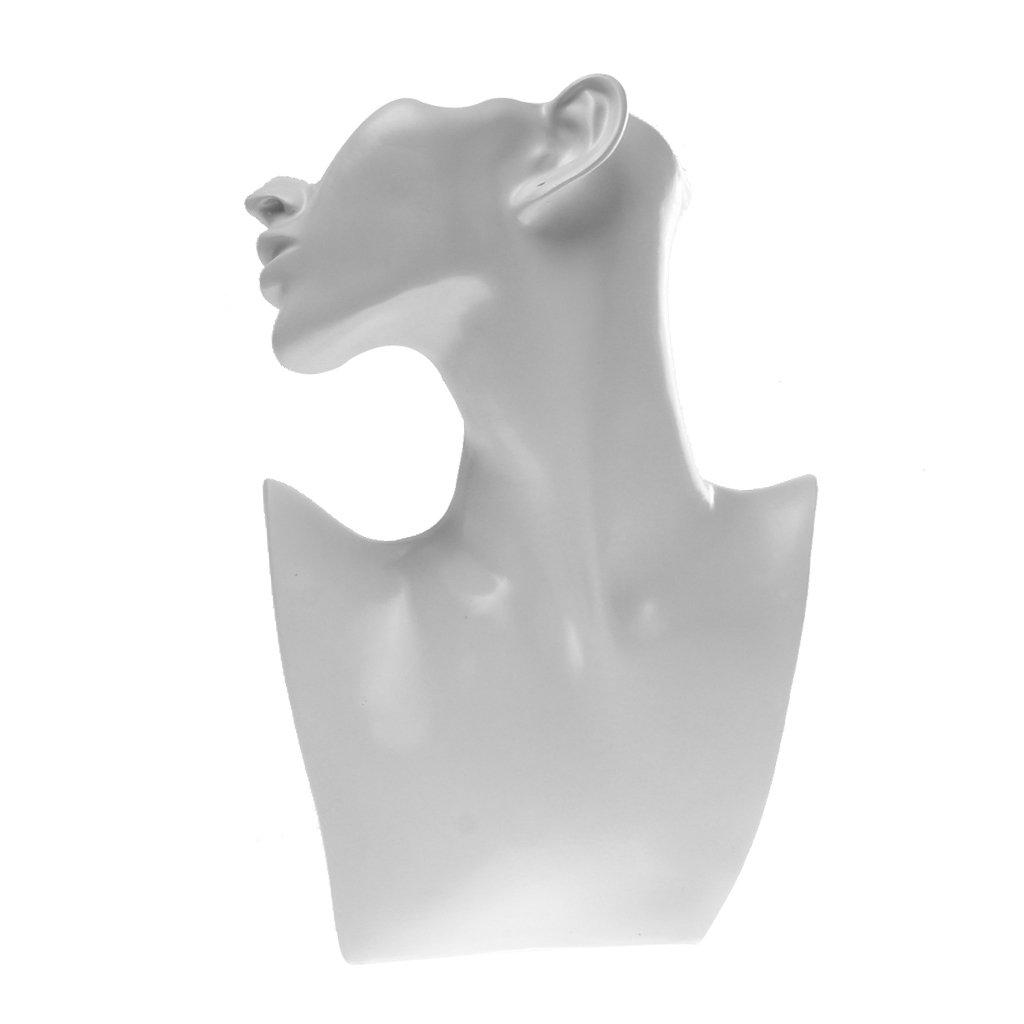 Présentoir à Bijoux Support en Résine Rangement Bracelet Bague Forme Buste Mannequin Blanc Generic