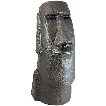 Emsco Group 92308 Easter Island Head Garden Statue, Bronze