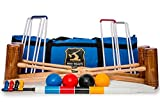 Wood Mallets Premium Garden Croquet Set, 4-Player in a Bag